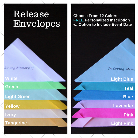 Envelope Color Options for Memorial Service Release
