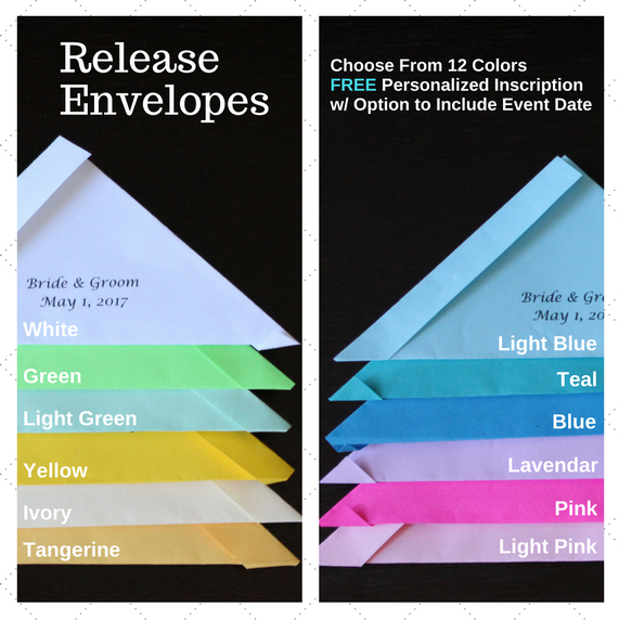 Envelope Color Options for Wedding Release