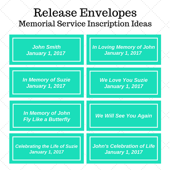 Memorial Service Release Inscription Ideas