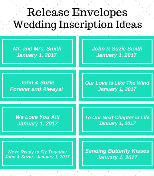 Wedding Release Inscription Ideas
